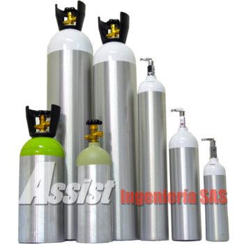 Cilindros en aluminio para oxigeno