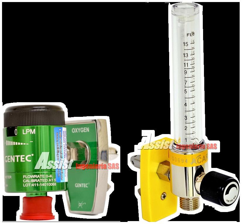 flujómetros con película antibacterial